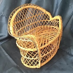 Other - Doll-Size Wicker Rattan Couch